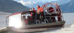Taku Glacier adventure and airboat tour Southeast Alaska