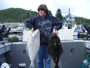 Sport halibut fishing in Juneau Alaska